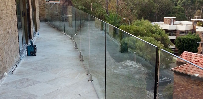 balcony glass balustrades north shore