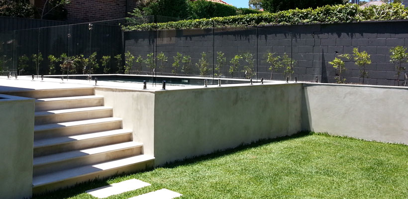 frameless glass fence north shore